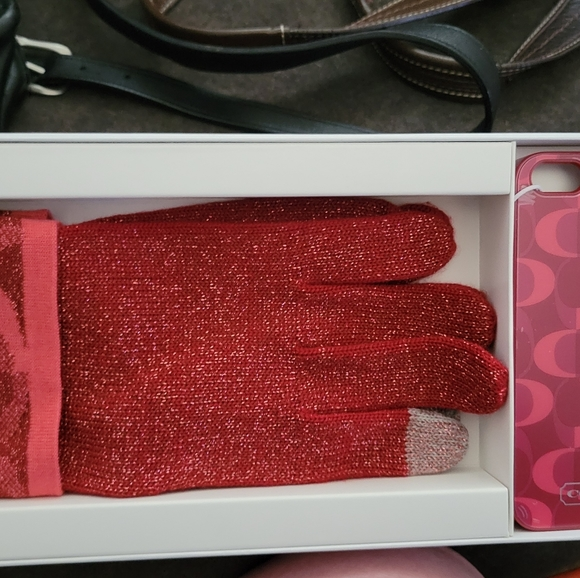 Touch gloves and phone case